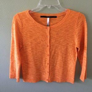 kensie 3/4 sleeve cardigan sweater